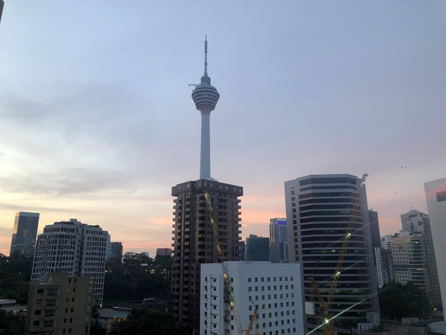 Sunset in Kuala Lumpur city is beautiful