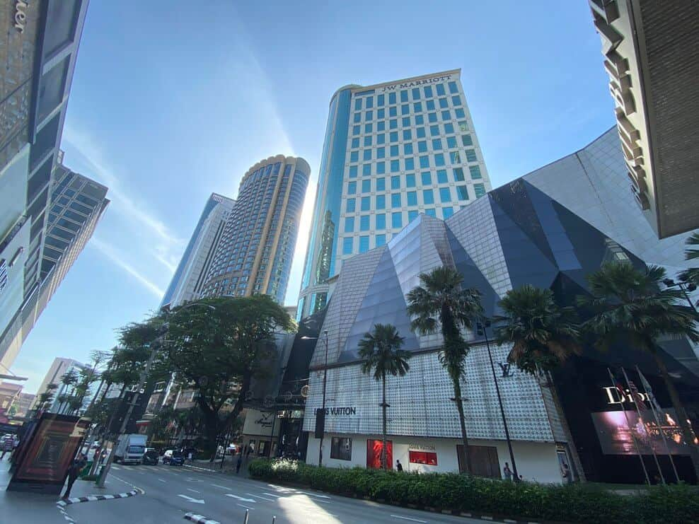 The Marriot in Bukit Bintang from the street
